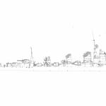 駆逐艦島風ドックタグストラップ/キーホルダー用デザインの作図中です。