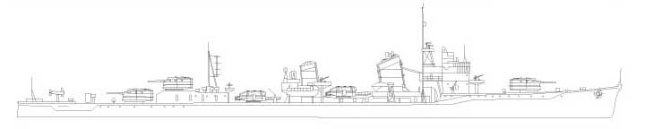 陽炎型駆逐艦「天津風」基本デザイン画完成しました。