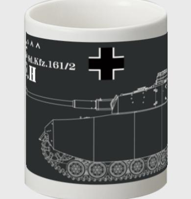 マグカップにドイツ軍Ⅳ号H型・ジャーマングレーバージョン登場です。